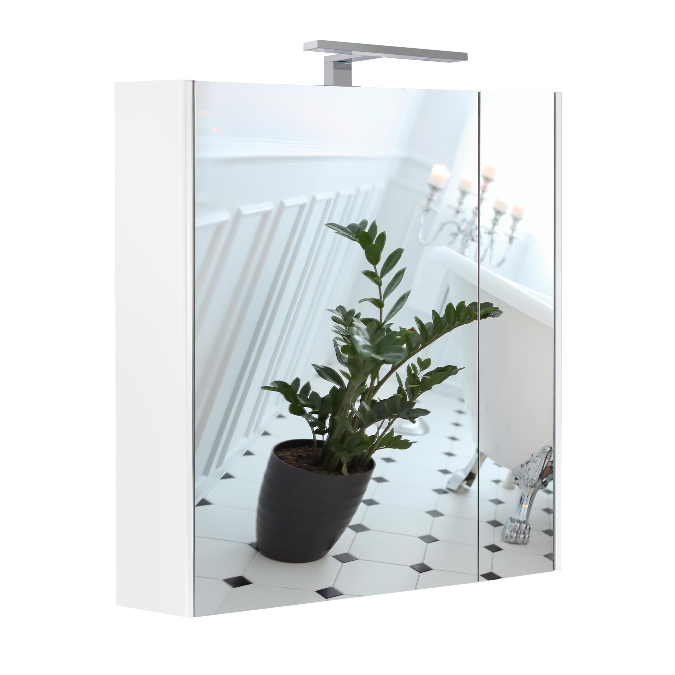 Зеркальный шкаф подвесной Qtap Albatross 700х725х460 White с LED-подсветкой QT0177ZP700LW