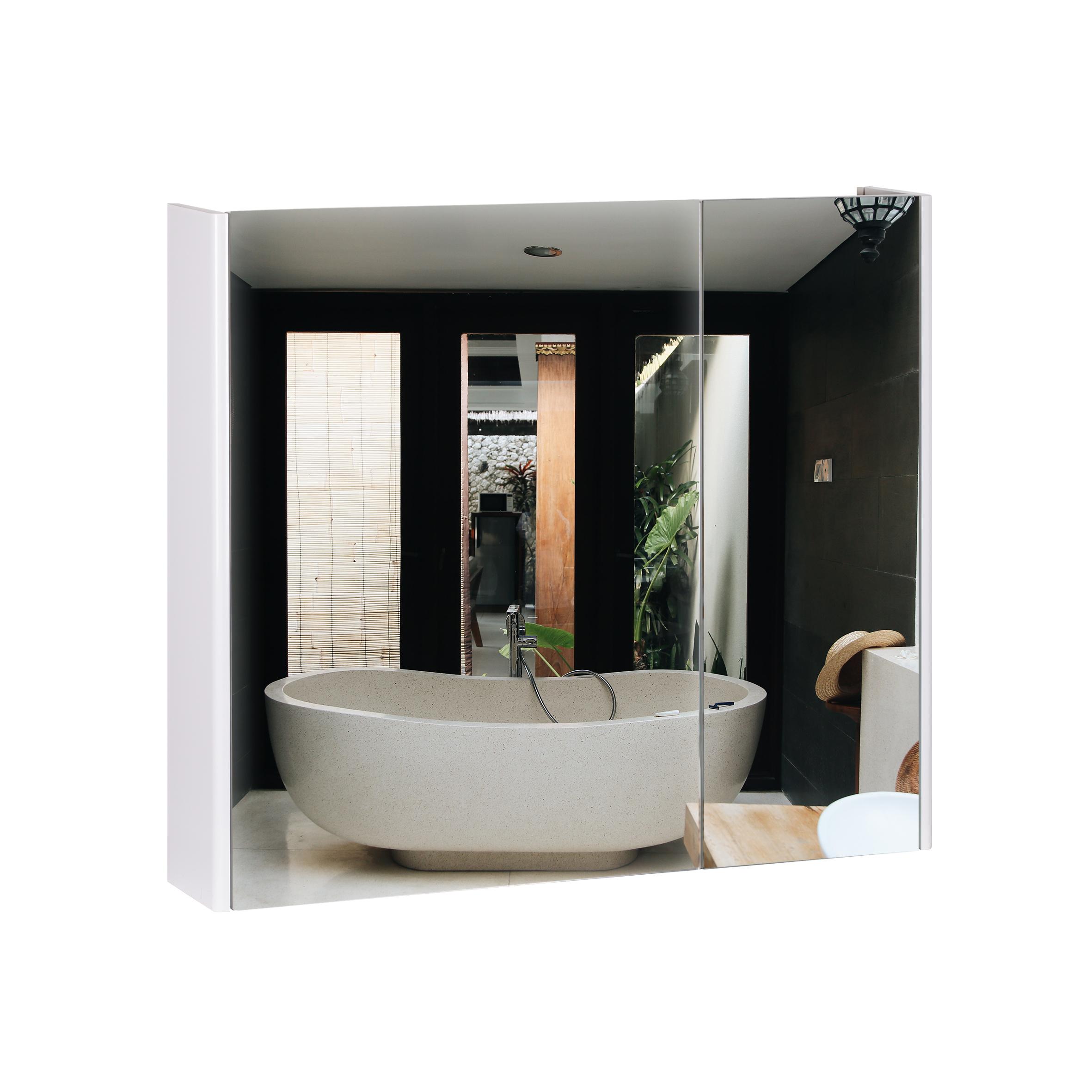 Зеркальный шкаф подвесной Qtap Scorpio 700х600х145 White QT1477ZP701W