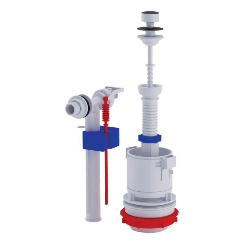 ANI Plast (WC4050M) Арматура спускная с клапаном боковой подачи
