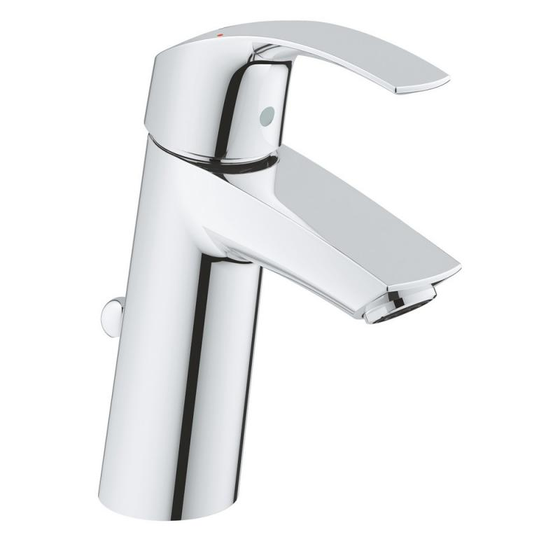 Grohe Eurosmart 23322001 смеситель для умывальника с донным клапаном