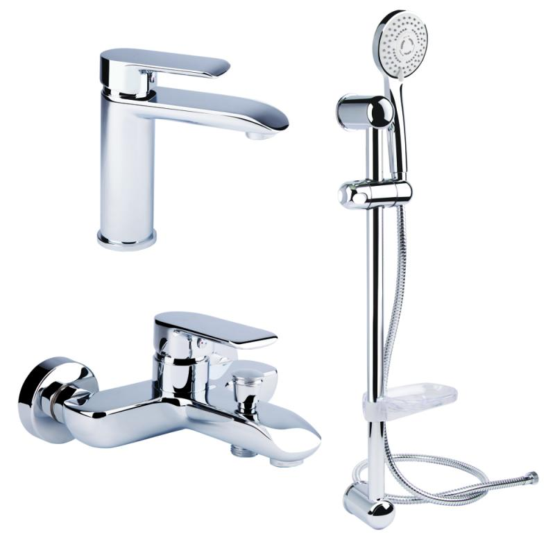 Bianchi Joy KITJOY2021#SMCRM (KITJOY 2021SA) Смеситель для умывальника, ванна,  стойка