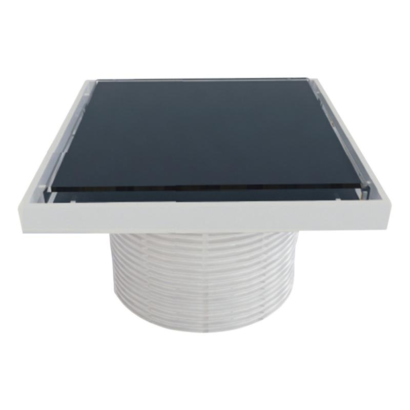 Styron STY-505-GFF Надставки для трапа со стеклянной решеткой или под плитку (BLACK) 150х150