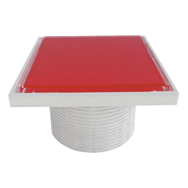 Styron STY-505-GFP Надставки для трапа со стеклянной решеткой или под плитку (RED) 150х150 мм