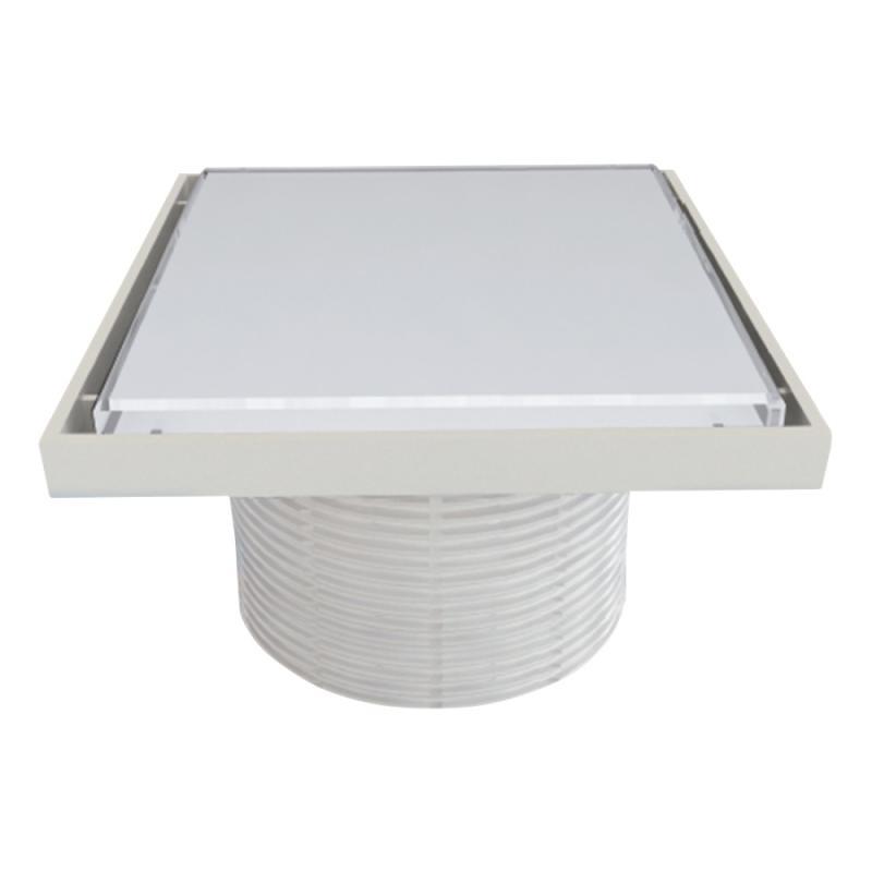 Styron STY-505-GFFE Надставки для трапа со стеклянной решеткой или под плитку (WHITE) 150х150 мм