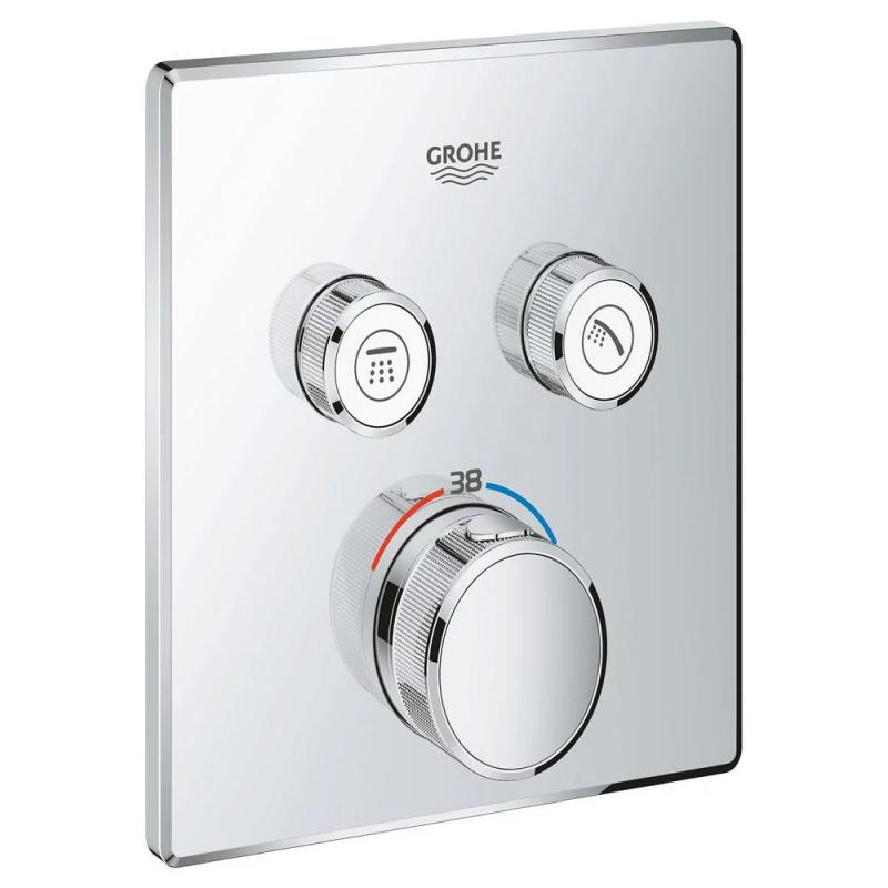 Grohe Grohtherm SmartControl 29124000 термостат для встраиваемого монтажа на 2 выхода