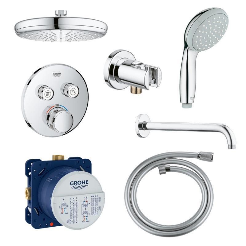 Набор для душа/ванной Grohe SmartControl 34614SC0 скрытого монтажа на 2 потребителя