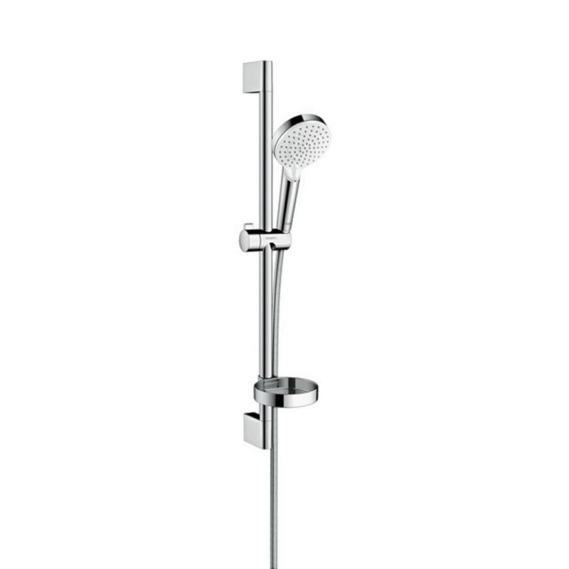 Hansgrohe Crometta 26553400 душевой набор 0,65 м,с мыльницей Casetta белый/хром