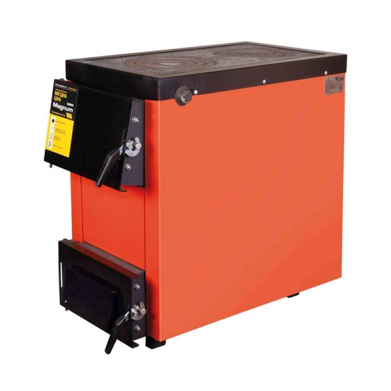 Сталевий твердопаливний котел з плитою Thermo Alliance Magnum SSF 20
