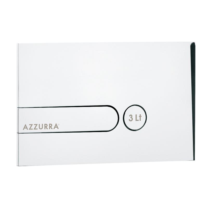Azzurra Клавиша PL3LB белая с кнопкой слива 3L с логотипом AZZURRA