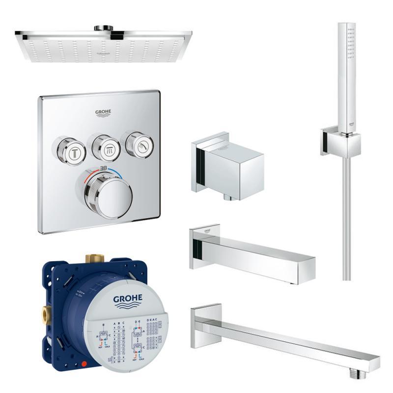 Набор для душа/ванной Grohe SmartControl 34506SC2 скрытого монтажа на 3 потребителя