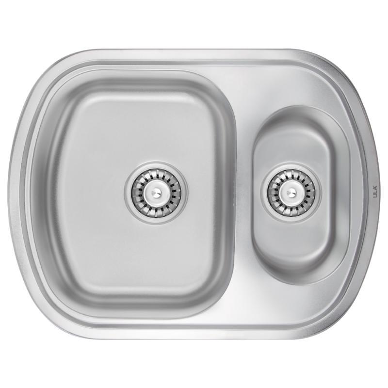 Мойка кухонная ULA 7703 ZS Micro Decor двойная